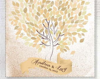Custom Wedding Guestbook Alternative Poster Wedding Print  Guest Book Print Wedding Gift Custom Colors of leaves you want. Desert nuances
