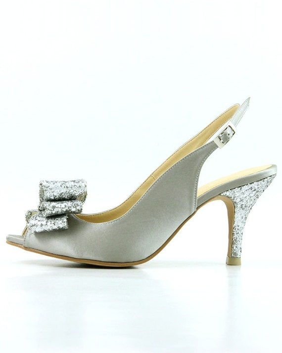 Gray Wedding Shoes Platinum Silver