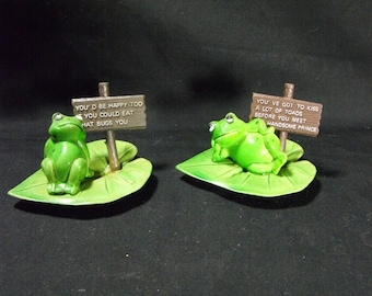Enesco Frogs on Lilly Pad  70's