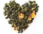 Organic TEA FLOWER Green Tea, Heritage Tea Farm of Taiwan, Complementary ReSealing Clip Included