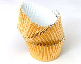 Gold Foil Solid Cupcake Liners