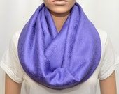 Purple Infinity Scarf with paisley floral pattern