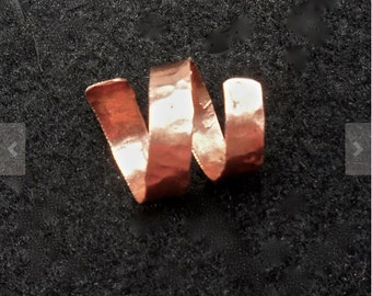 Copper ring, rustic hammered copper jewelry