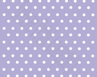 lavender with white polka dots craft  vinyl sheet - HTV or Adhesive Vinyl -  polka dot pattern   HTV40