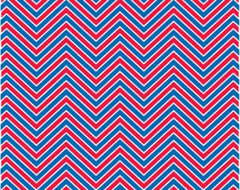 Red, white and blue chevron craft  vinyl sheet - HTV or Adhesive Vinyl -  usa patriotic 4th of July Memorial day  zig zag pattern  HTV88
