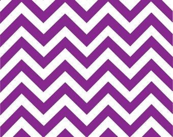 Purple chevron craft  vinyl sheet - HTV or Adhesive Vinyl -  purple and white large zig zag pattern   HTV95