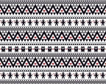 Black gray red owl tribal pattern craft  vinyl sheet - HTV or Adhesive Vinyl -  Aztec Peruvian pattern Halloween  HTV315
