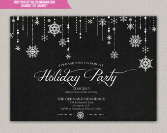Winter Wonderland Holiday Party - Christmas Party Invitation - DIY Printable Invitation