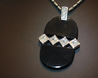 Remarkable 1976 Vintage Givenchy Acrylic Pendant