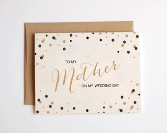 To my mother on my wedding day card - on the day stationery