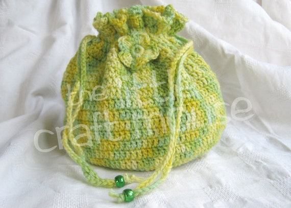 String Bag Crochet Pattern : Drawstring Bag Crochet Pattern