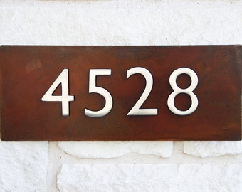 Welcome Home Address Plaque w/ Silver Numbers, Address Sign, House Numbers (Free Shipping)