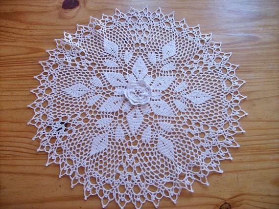 Carpeta redonda tejida al crochet carpeta por TejidosCirculos