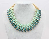 2013 New Fashion Neon Choker Necklace Collar,Chunky Statement Necklace  Women