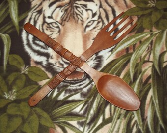 Wooden Spoon and Fork/African