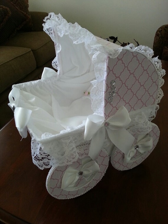 The aria baby carriage centerpiece for Baby carriage decoration
