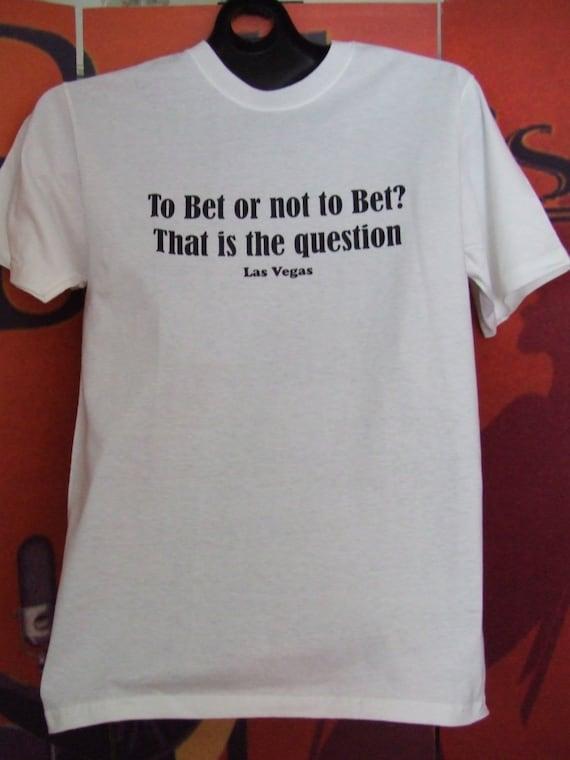 White mens tee shirt with funny las vegas print on front for Las vegas shirt printing