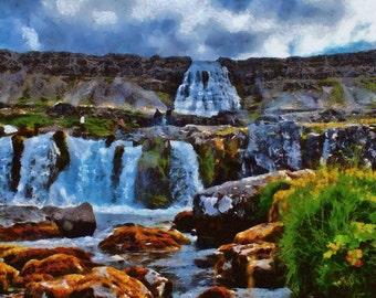 Dynjandi Foss, Iceland - canvas print