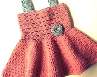 Crochet Pattern * Sandy Dress for baby girls * Instant Download Pattern #465 * Easy * 3 month to 24 Month Sizes *