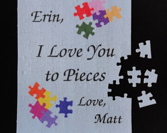 "Personalized PUZZLE, Personalised Puzzle, Custom made 7 1/2"" x 9 1/2"" Great Gift!!!! One -of-a-kind, Add-a-name"