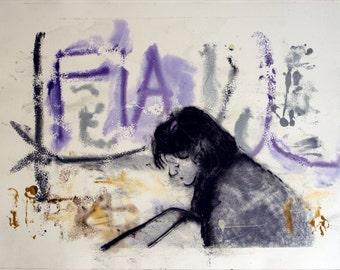 print girl graffitti urban - LIMITED EDITION of 9