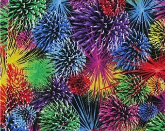 Fireworks Fabric -  100% Cotton Quilting Apparel Crafts Home decor