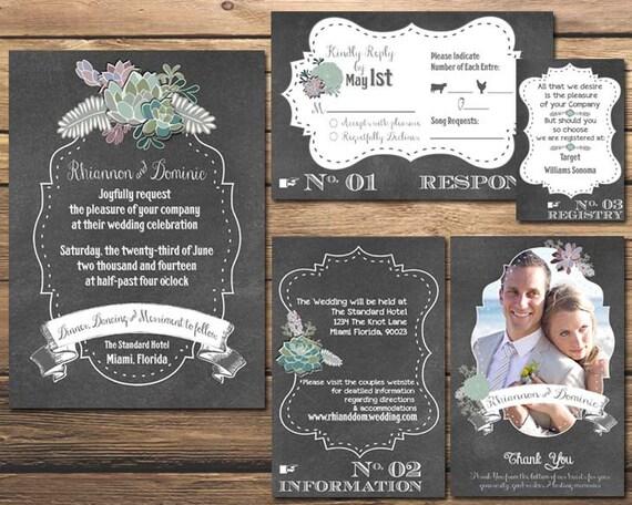 Wedding Invitation Registry Wording: Custom Printable Wedding Suite Rustic By TheFrogandthePeach