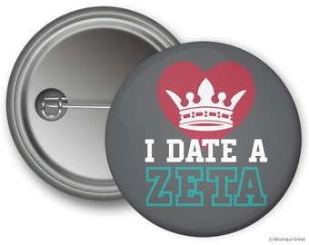 ZTA Zeta Tau Alpha Boyfriend Sorority Greek Button