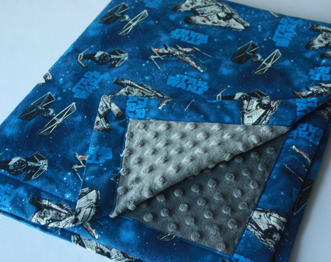Star Wars Baby Blanket-Blue Ships-MTO