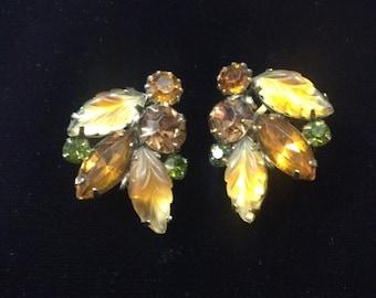 Vintage Louis Kramer Rhinestone Earrings