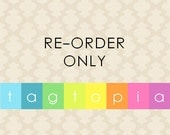 REORDER ONLY: Qty 200~ Custom Clothing Labels