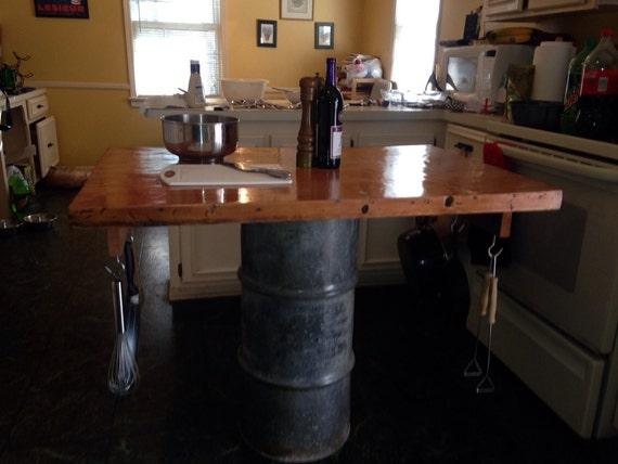 Industrial Kitchen Island Butcher Block : Butcher block Industrial kitchen island