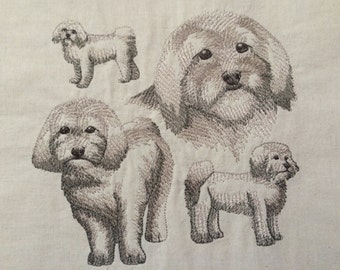 Havanese ~ Dog Sketch Quilt Block