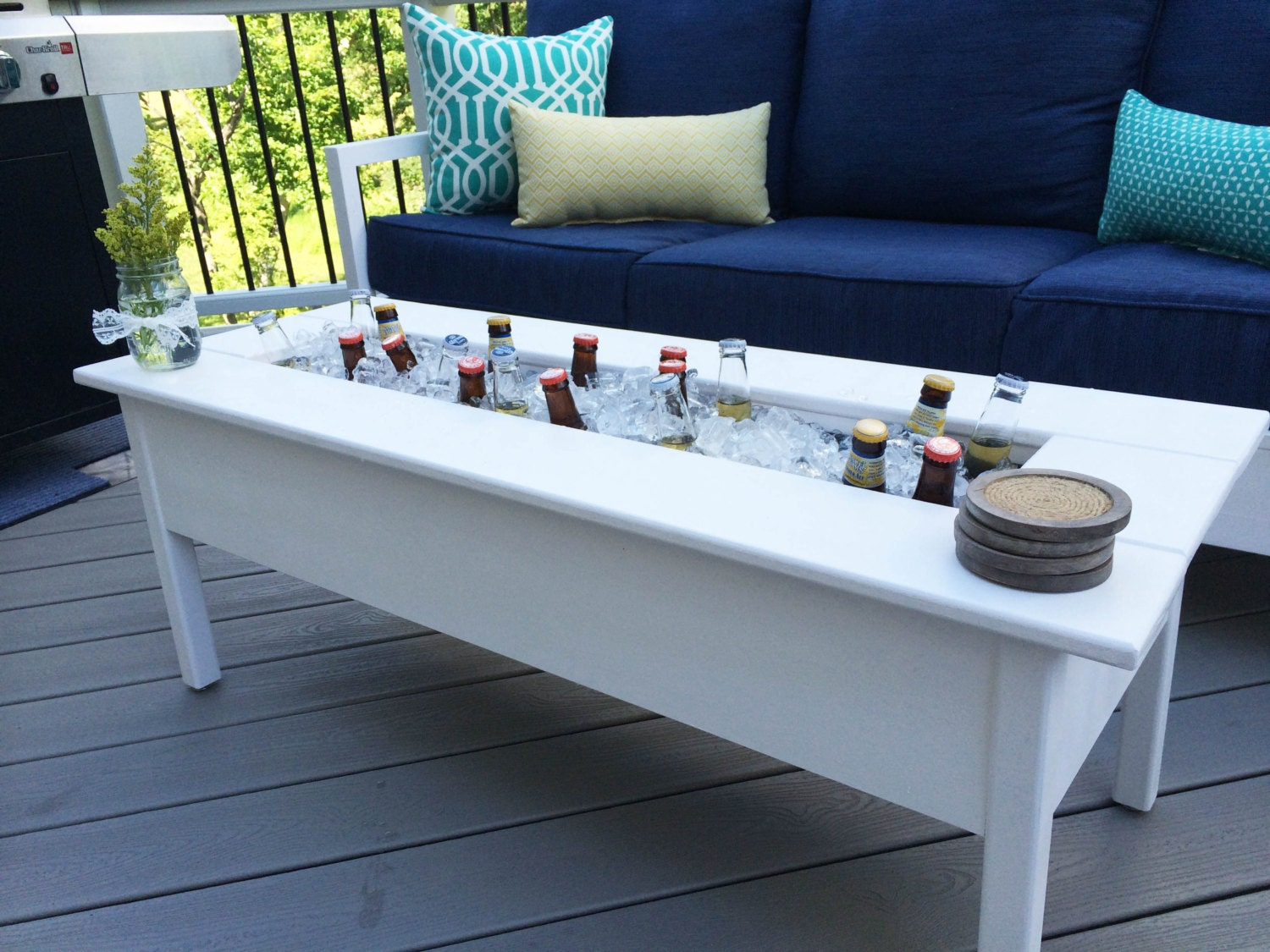 outdoor cooler coffee table