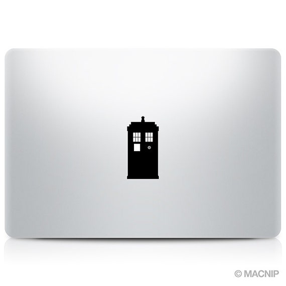 Doctor Who Tardis Geronimo Macbook Decal Laptop Sticker - Vinyl decals for macbook