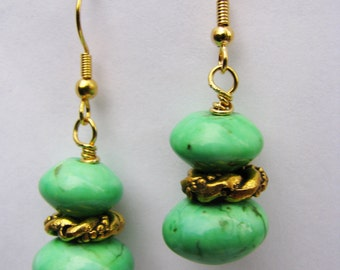 Apple Green Turquoise Earrings