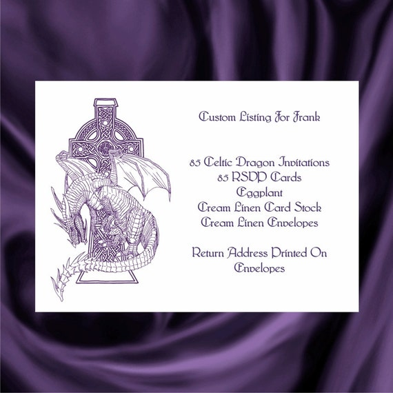 Tree Of Life Invitation Rsvp Celtic Life By: Custom Listing For Frank Celtic Dragon Wedding Invitations