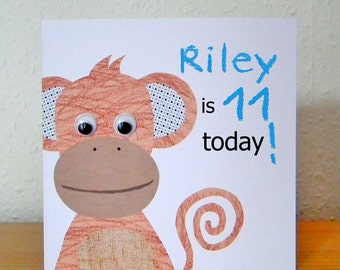 Milo Monkey Greeting Card