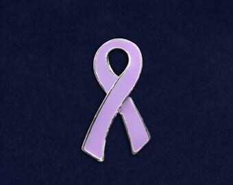 Large Lavender Ribbon Pin (RE-P-25-19)
