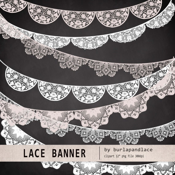 Wedding Banner Clipart Lace banner wed...