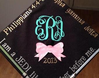 "4"" Graduation Hat Decal"