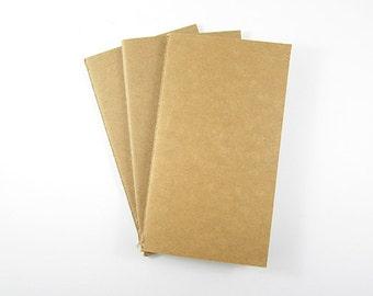 Stitched Blank Kraft Notebook Sketchbook 8.5 x 15.5cm