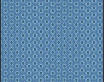 Sale Art Gallery Fabrics 100% Premium Cotton, Oval Elements, Sapphire OE-932