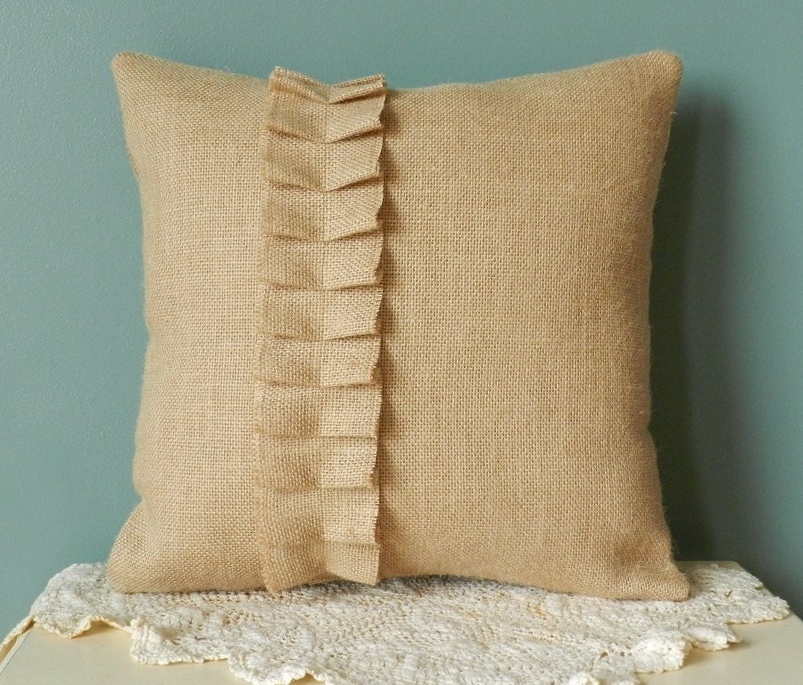 Decorative Burlap Pillow Covers : 14 Burlap Throw Pillow Cover Decorative burlap pillow