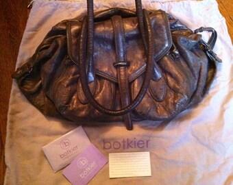 Botkier metallic leather handbag