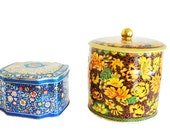 SALE! English Decorative Tin Canisters