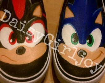 Custom hand painted Sonic The Hedgehog Toddler Children's shoes