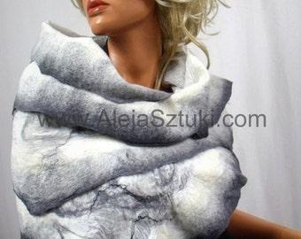 Nuno felted silk shawl, scarves. Nuno felting. Silk scarves, Silk shawls, Merino wool