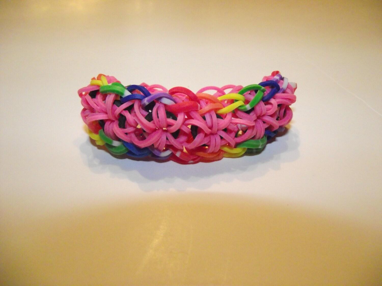 items similar to rainbow loom starburst bracelet on etsy