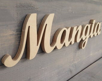 Mangia Italian Eat Sign Mangia Sign Kitchen Decor Wood Cottage Wooden Decor
